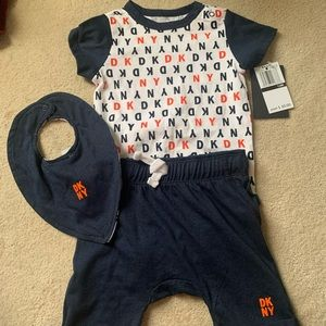 DKNY 12 month 3 piece outfit